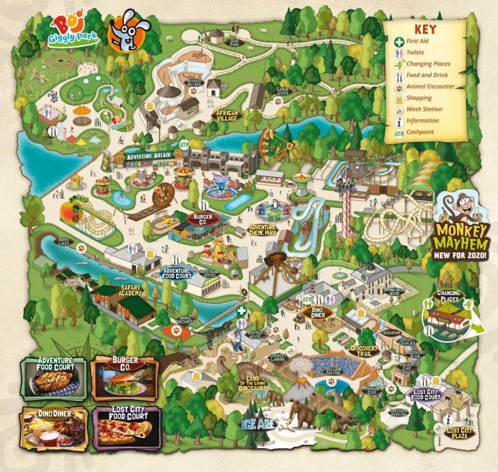 West Midland Safari Park – Park Map